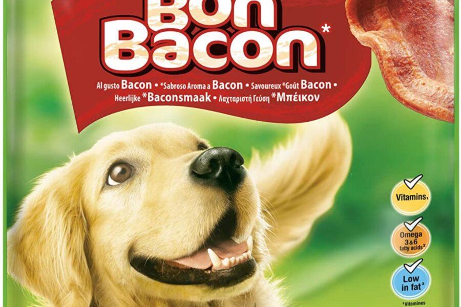 snack al bacon per cane