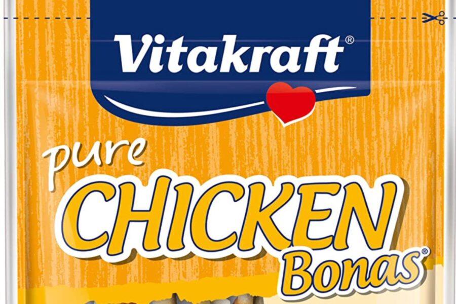 bastoncini al pollo per cane