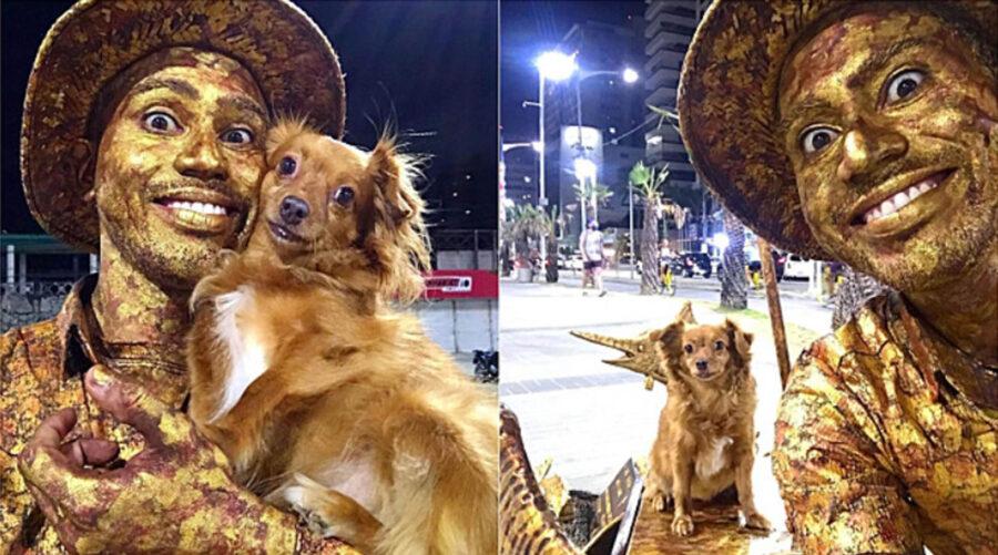 spettacolo con cane