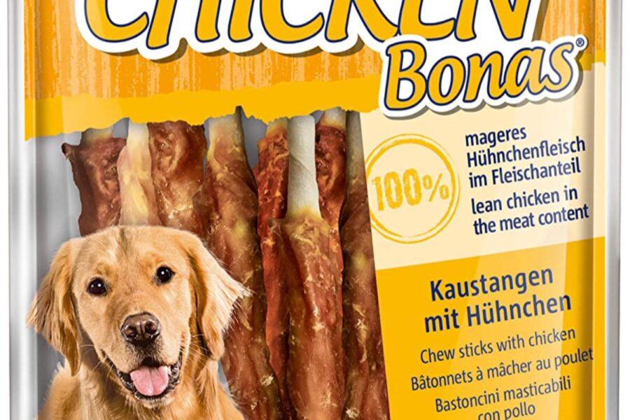 snack al pollo per il cane